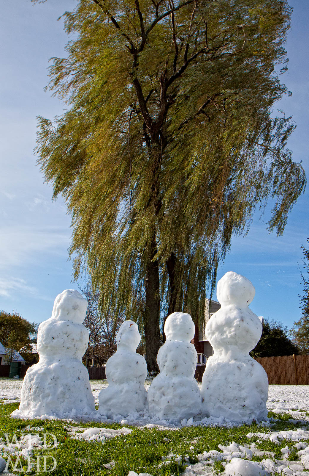 A Snow Family in Snowctober