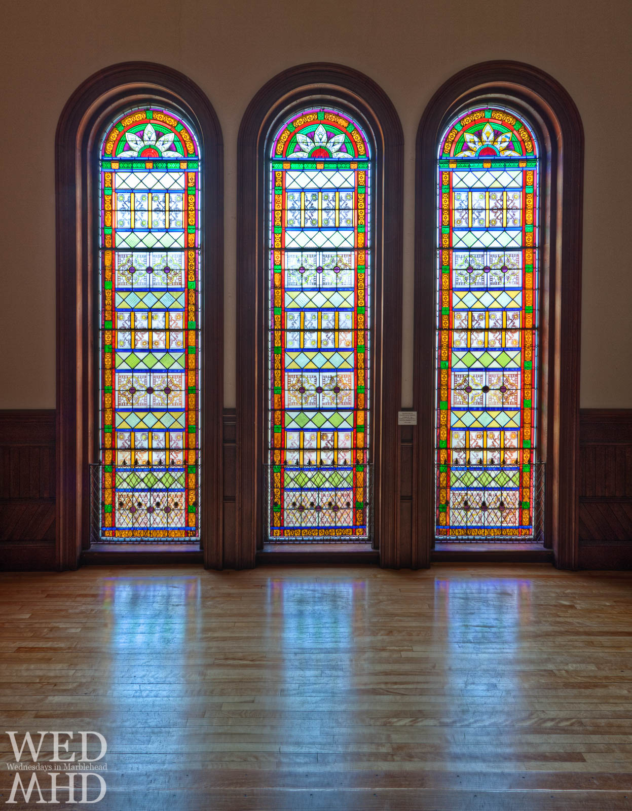 Abbot Hall's New Stained Glass Windows