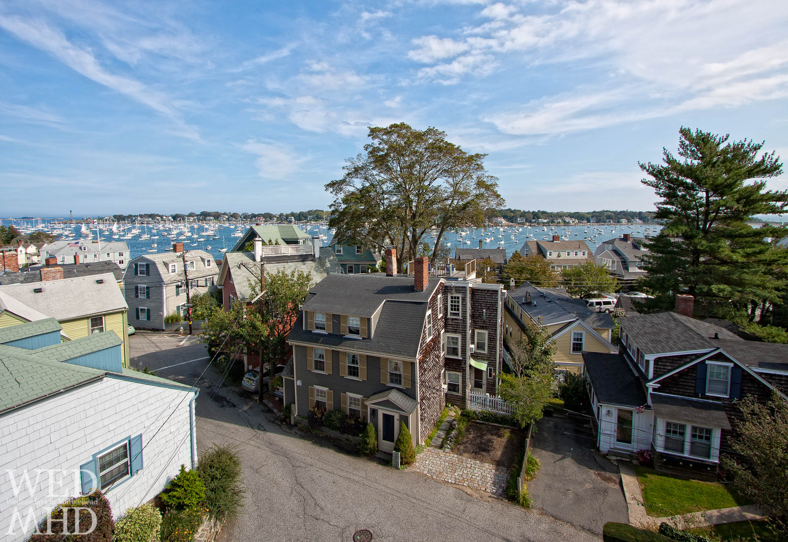 rooftop view of Marblehead homes