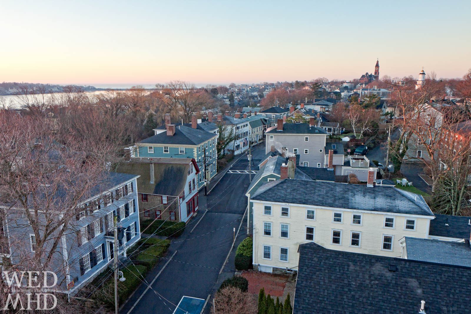 rooftop view Marblehead Old Town