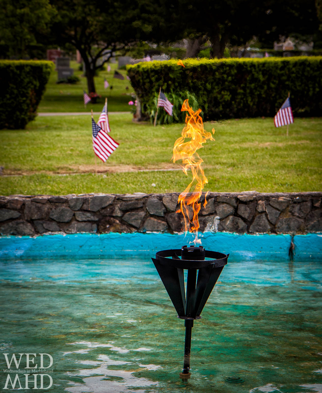 Eternal Flame at Waterside Cemetery