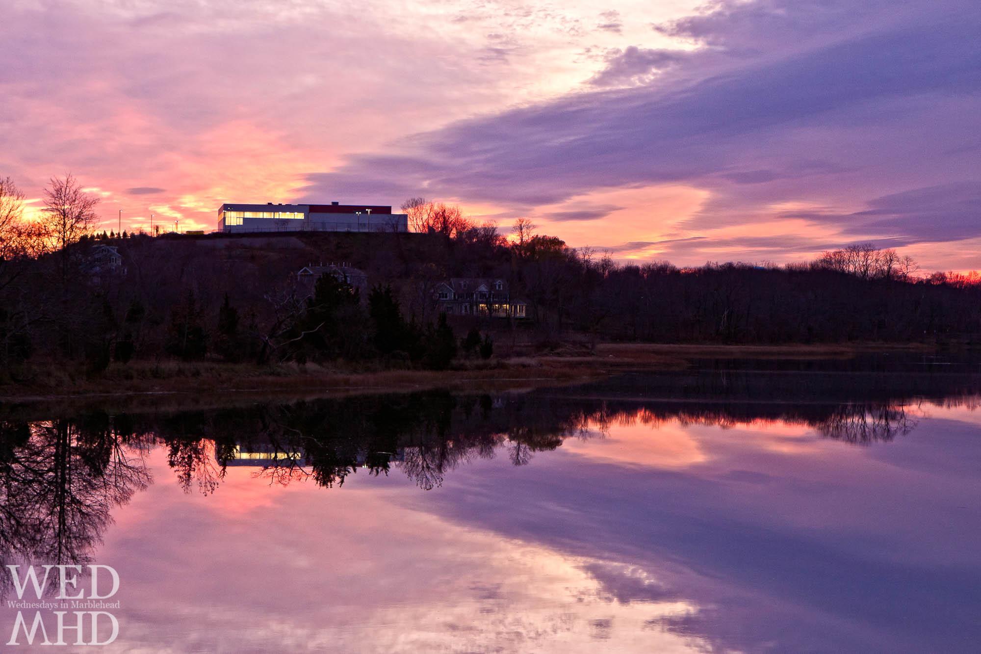 Sunset over Leggs Hill
