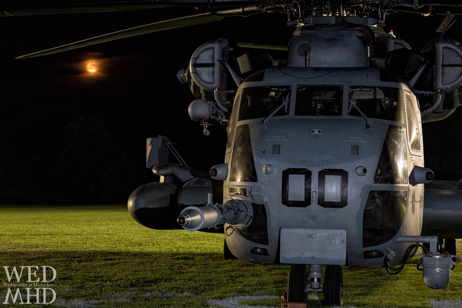 CH-53 and Full Moon