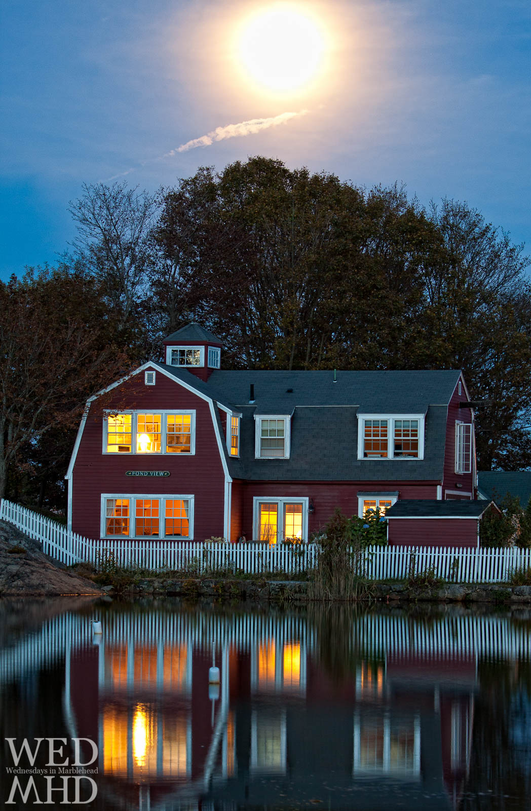 The Harvest Moon Rises over Redds Pond