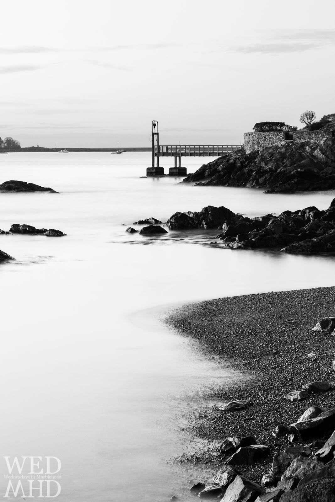 Marblehead Harbor in Black and White