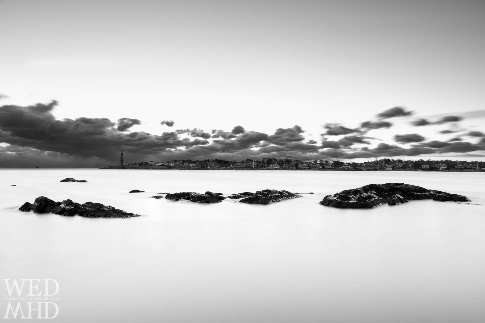Rocks in a Milky Harbor