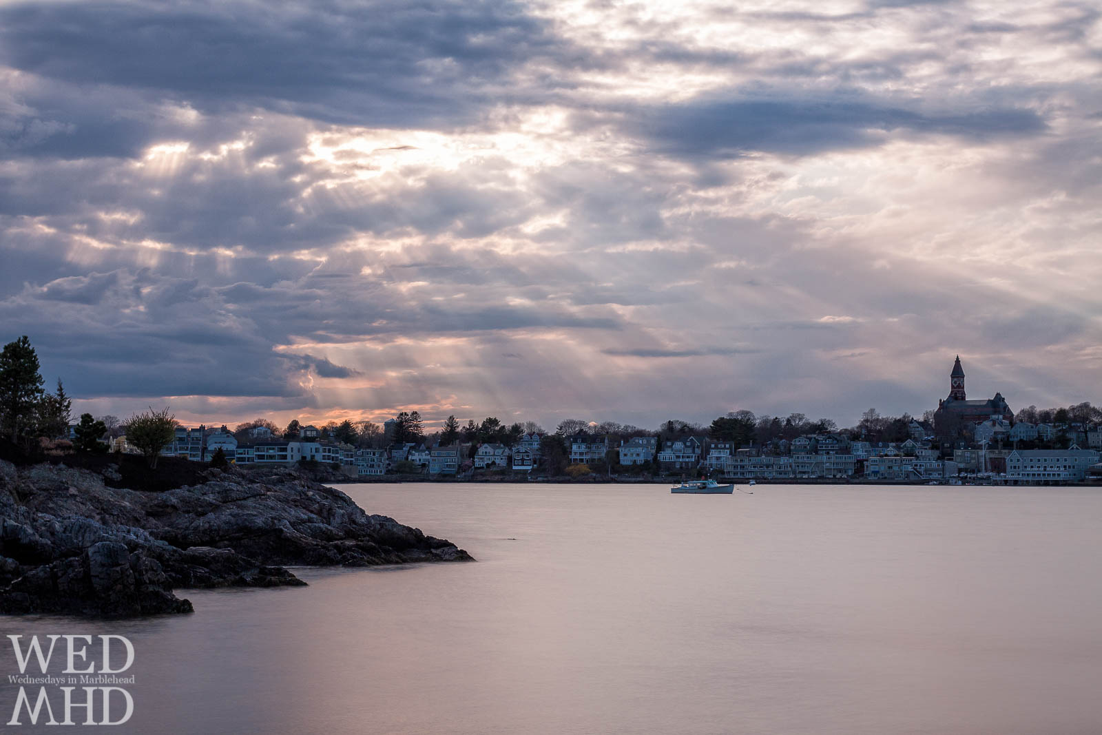 Long Exposure Sun Rays over Marblehead Harbor