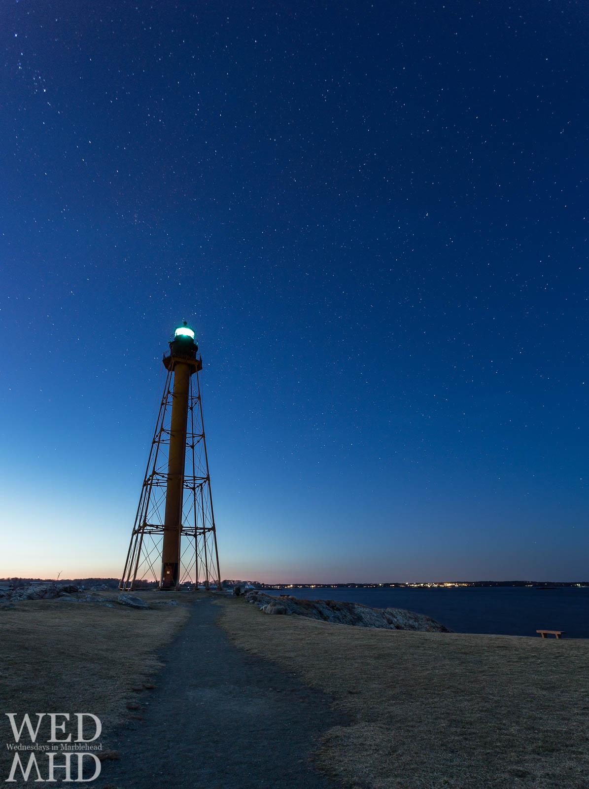 Marblehead Light Under the Stars