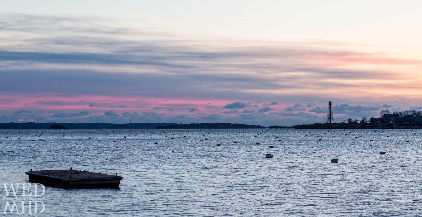 Purple Dawn Over an Empty Harbor