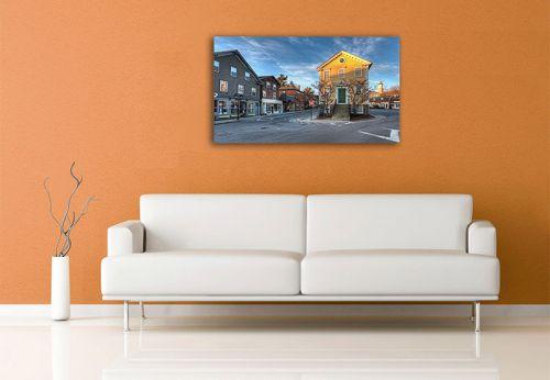 Canvas print above sofa