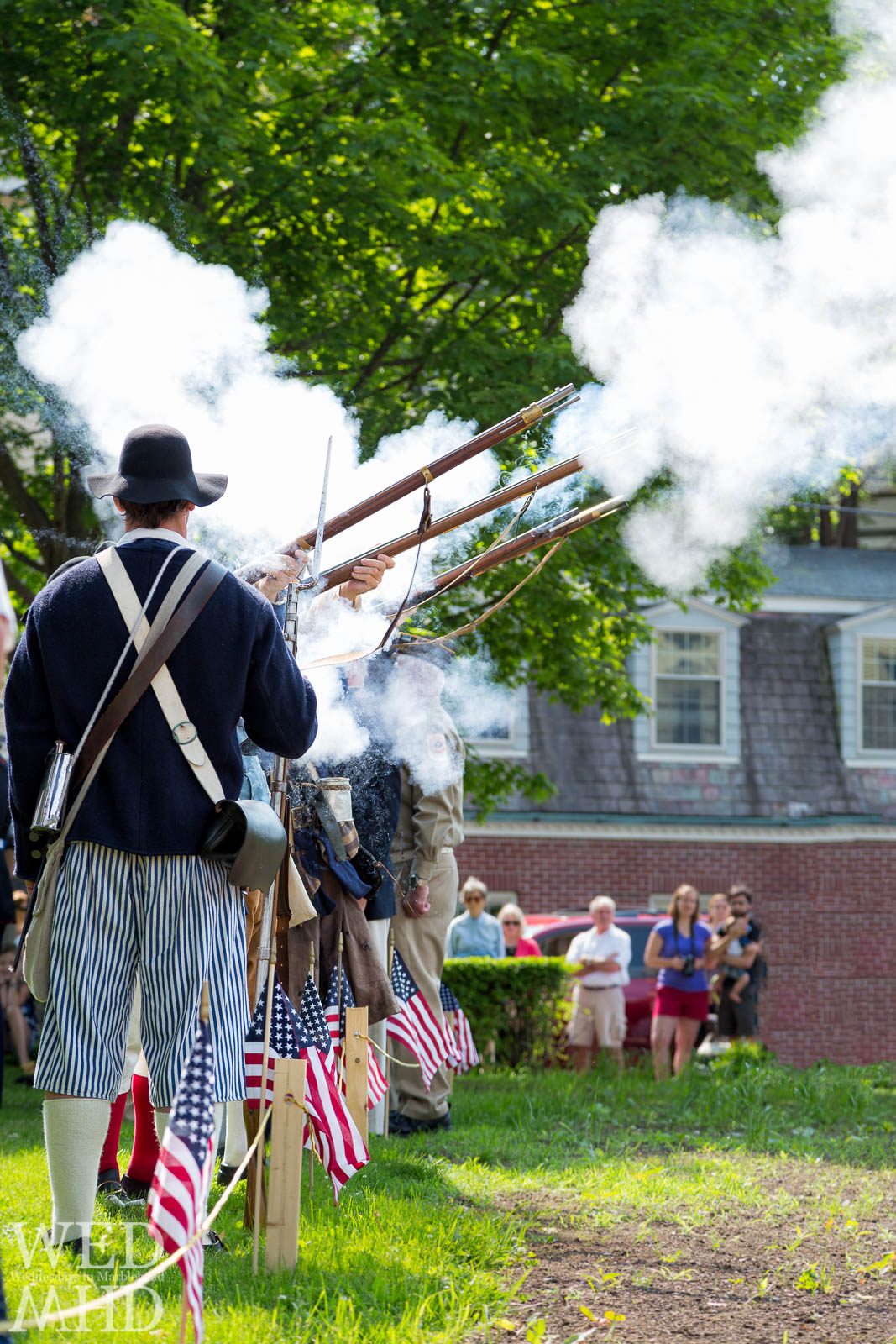 Firing Muskets on Memorial Day - Wednesdays in Marblehead