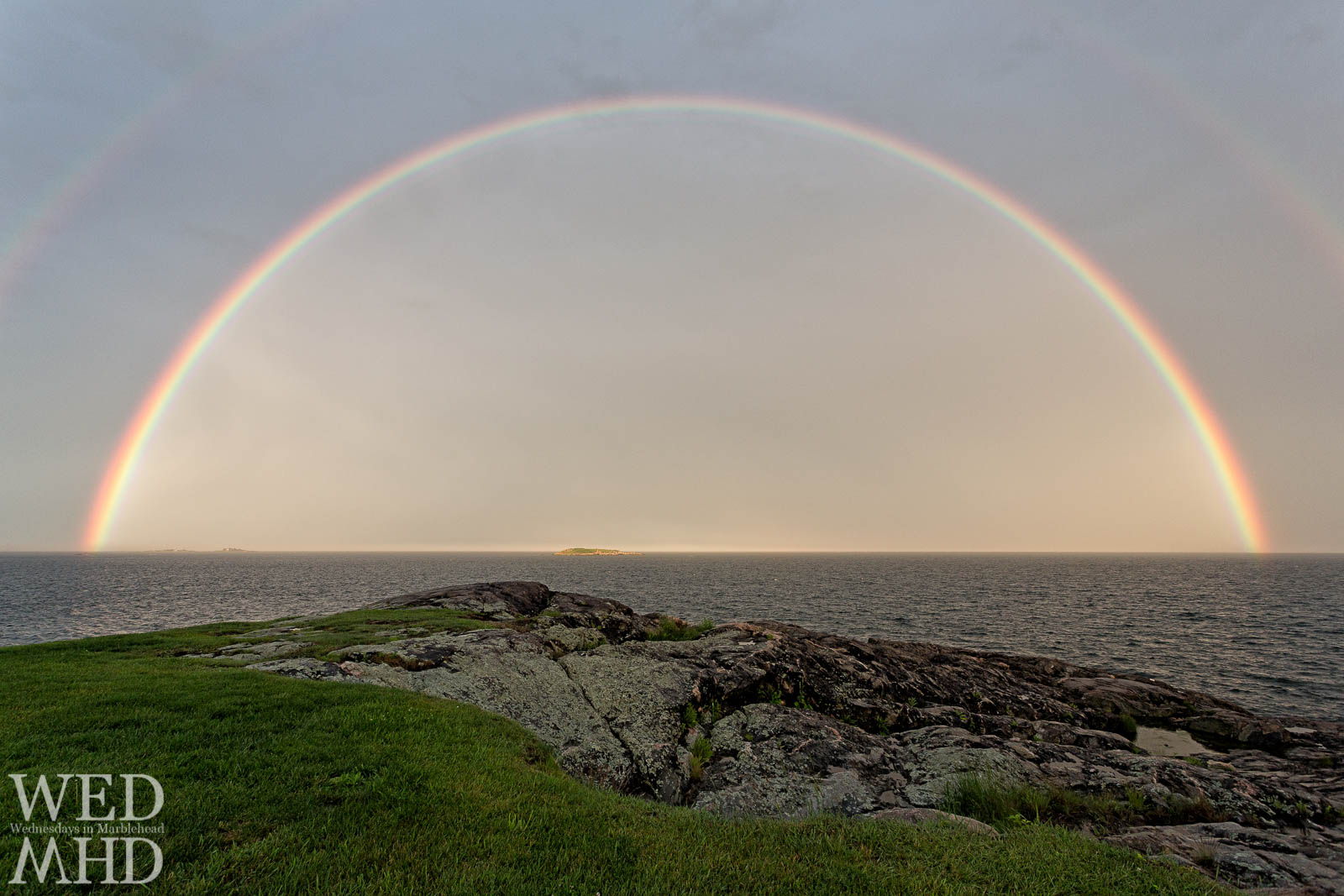 Full Rainbow over Ram's Island