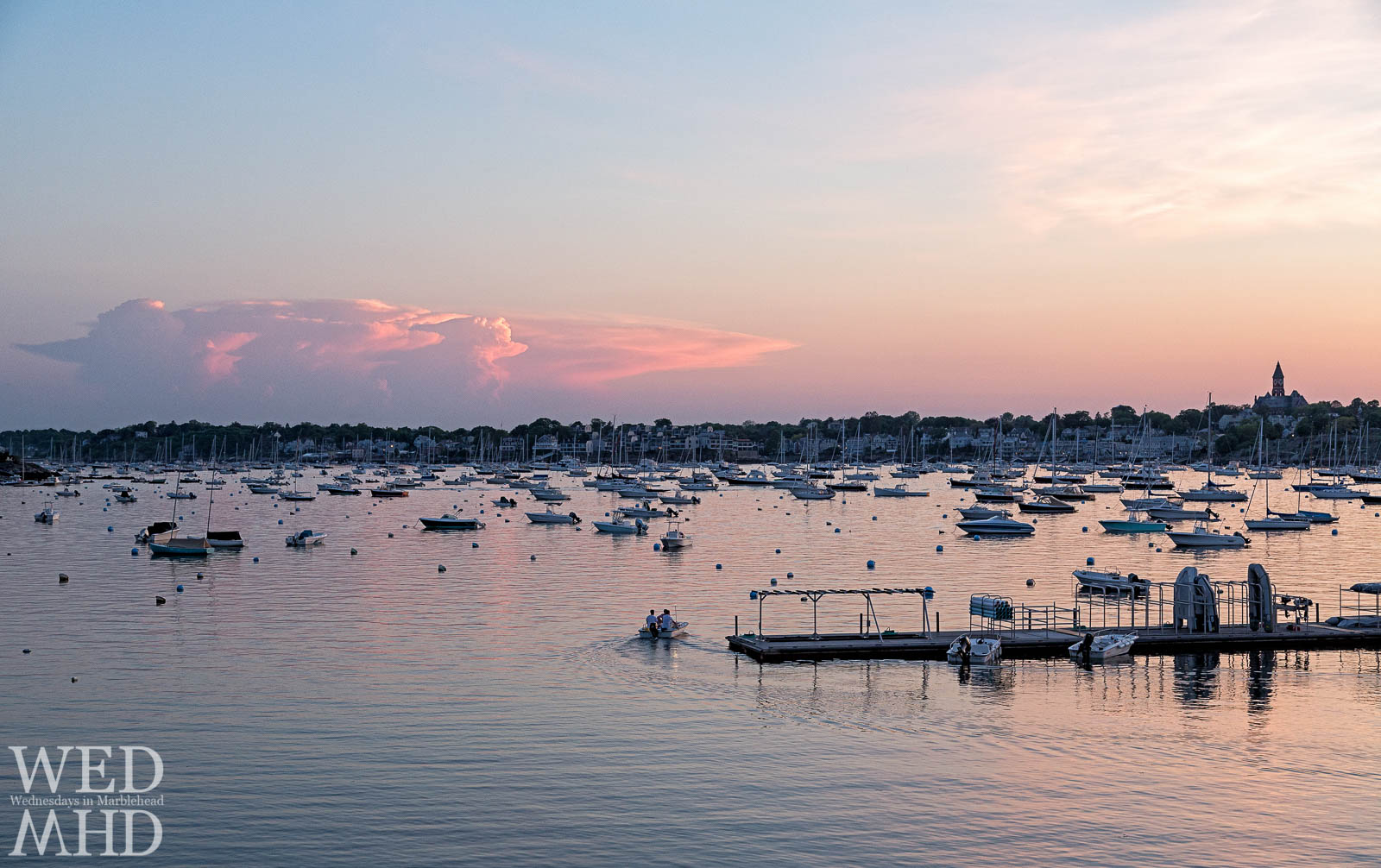 Riding the Launch at Sunset in Marblehead Harbor