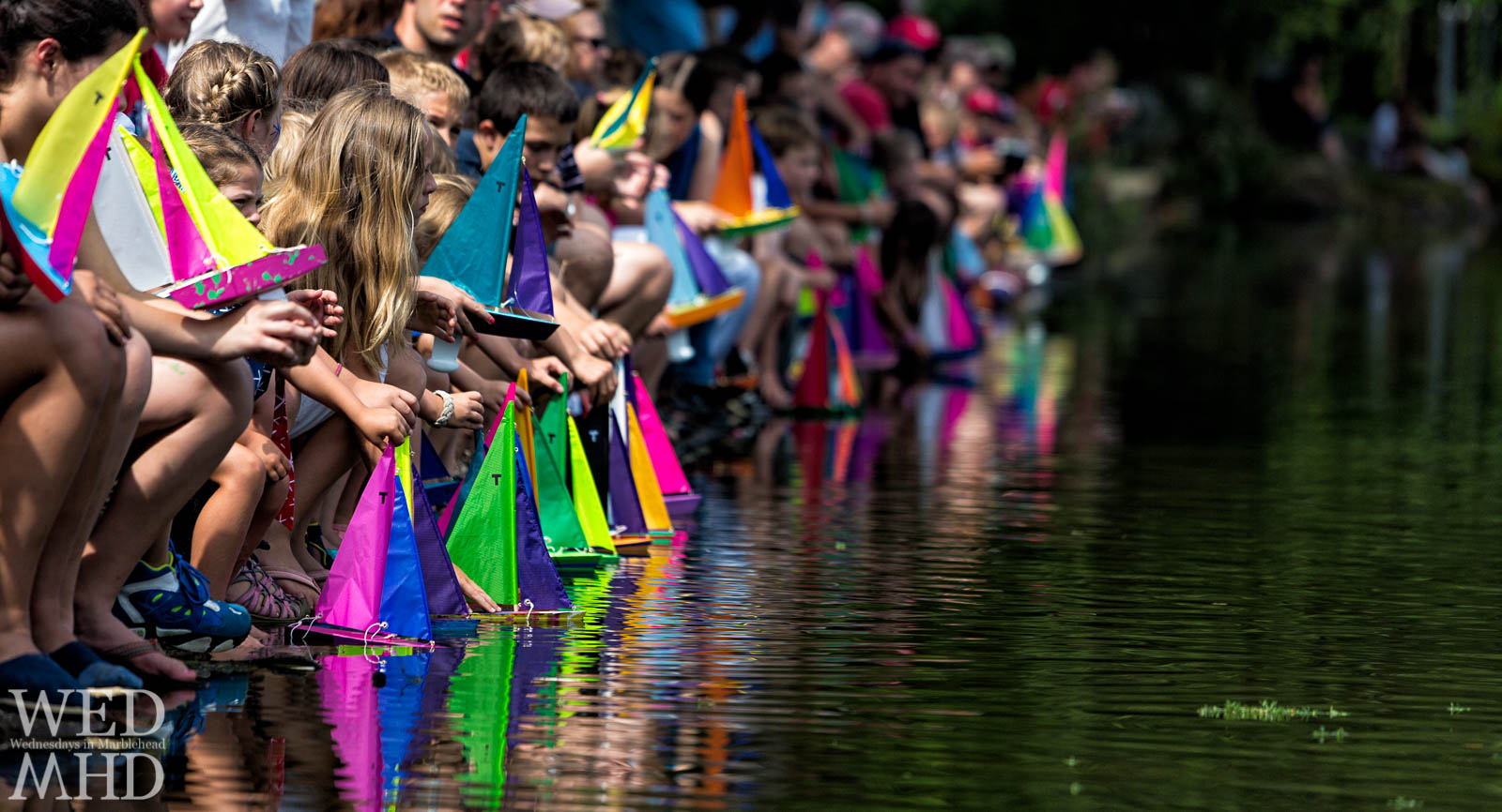 annual kids model boat race