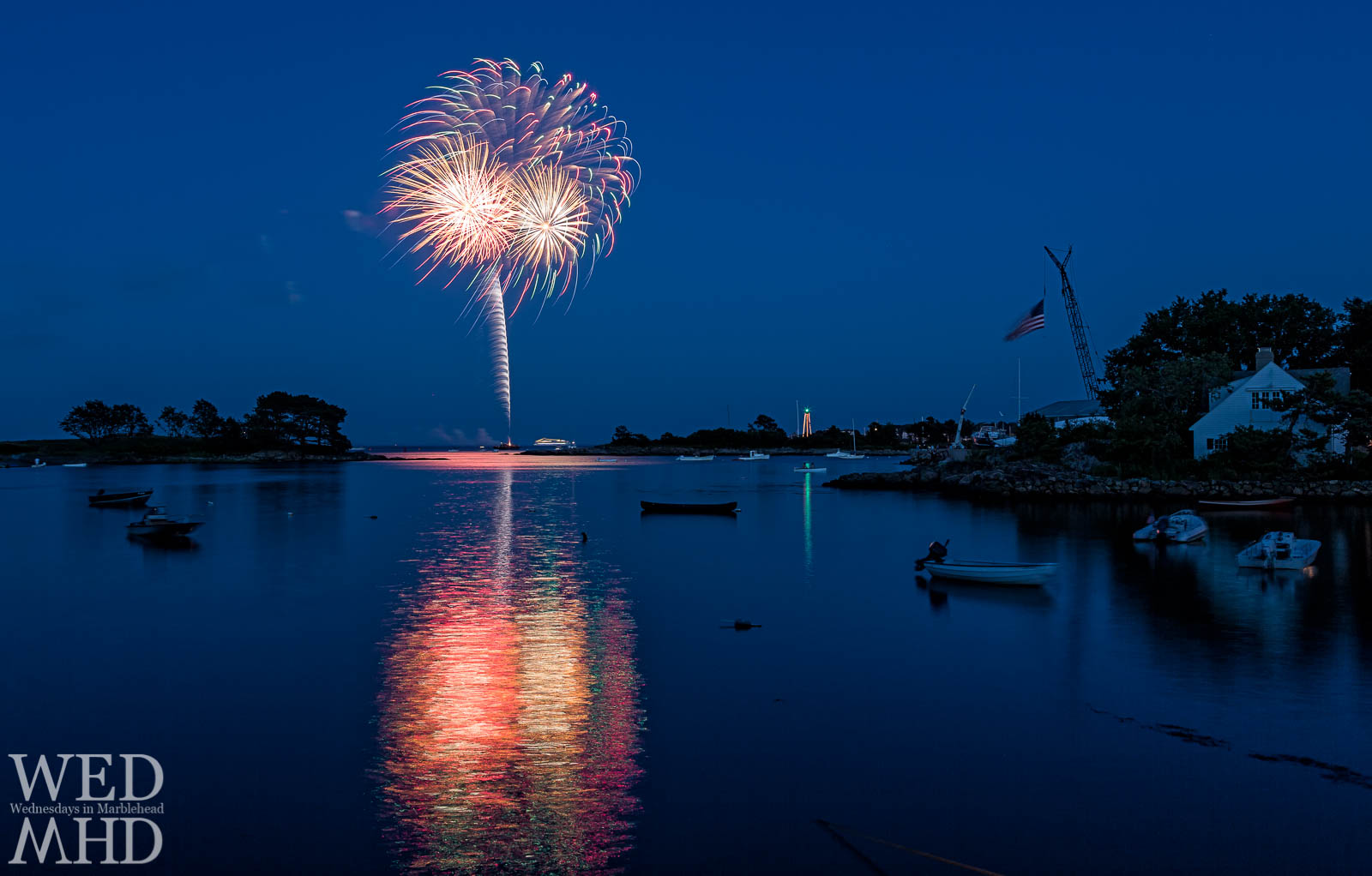 Fireworks over Little Harbor in Marblehead