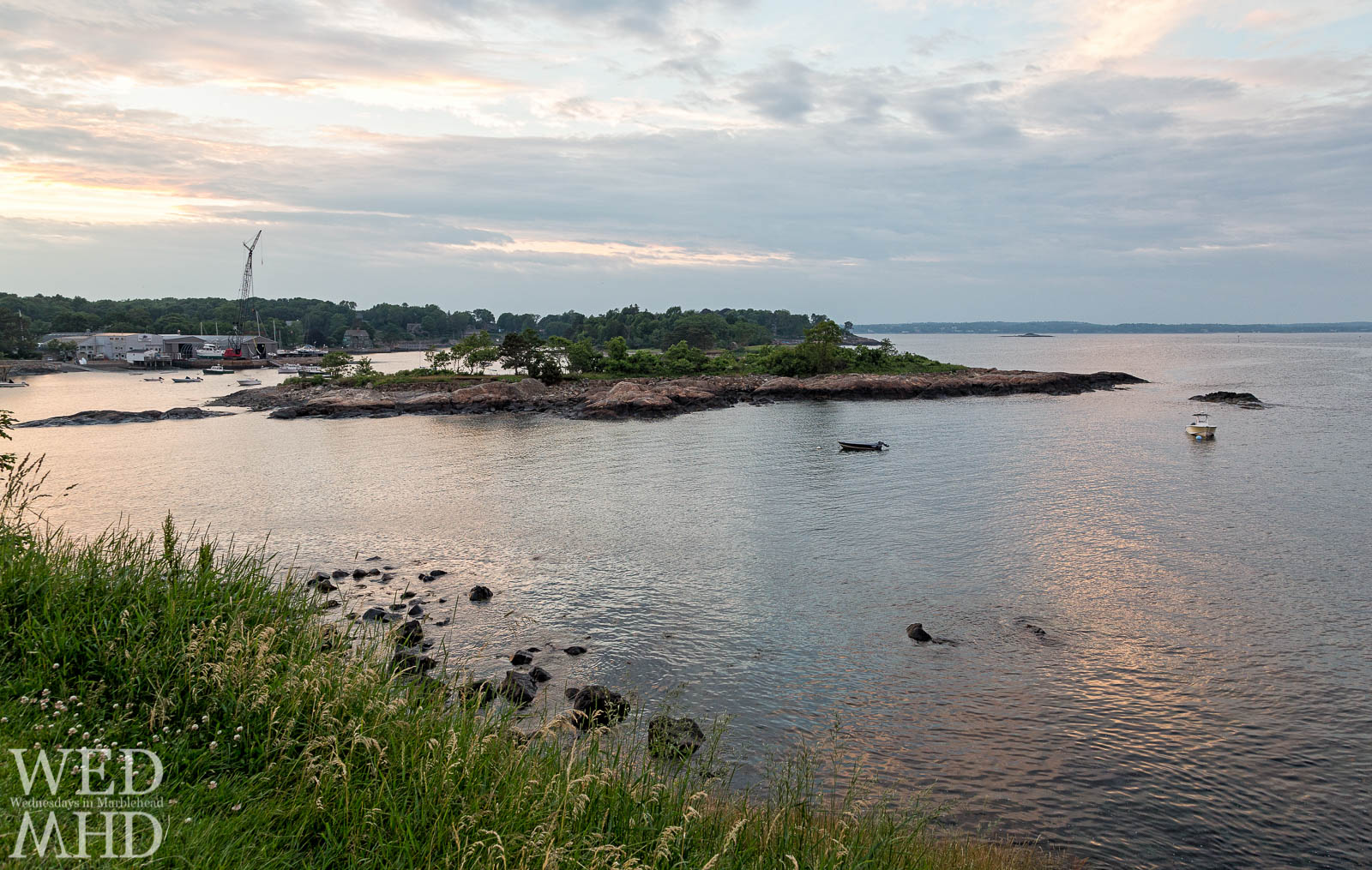 Looking out over Gerry Island from Fort Sewall