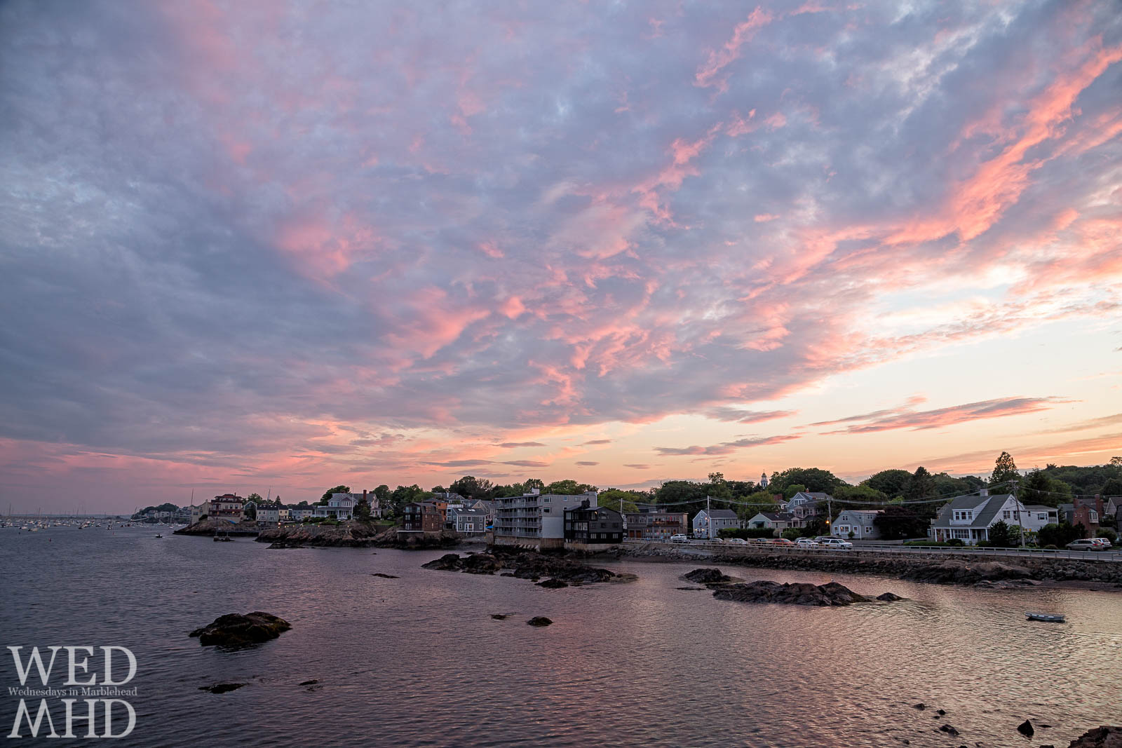 sunset over Marblehead
