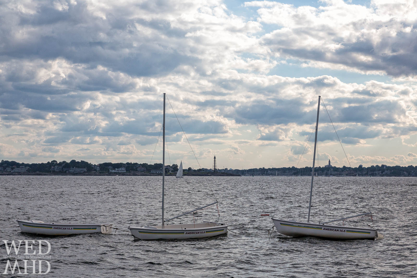 Of Sailboats, Landmarks and Marblehead Harbor seen from Children's Island