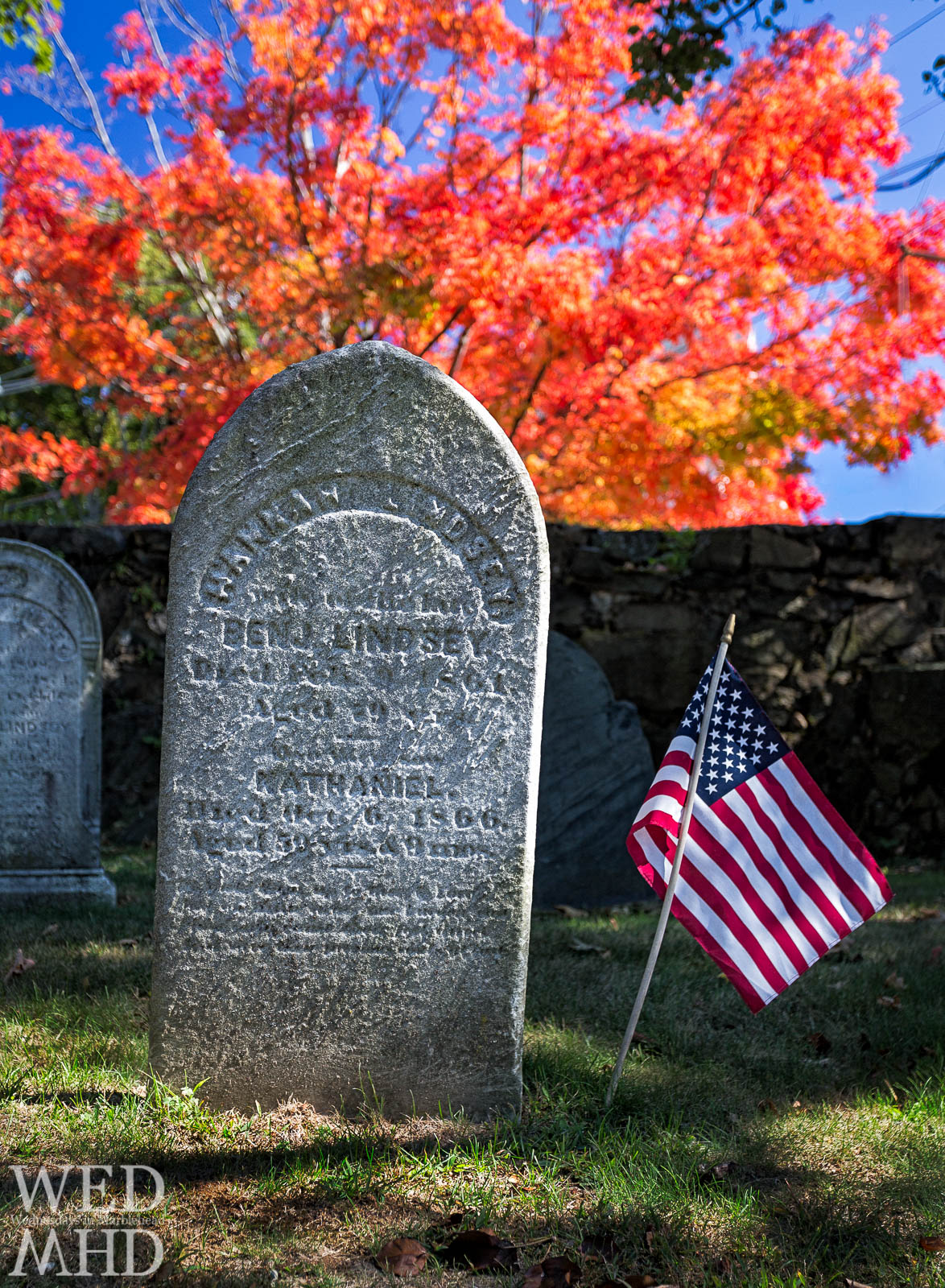 Peak Fall Colors at Green Street Cemetery