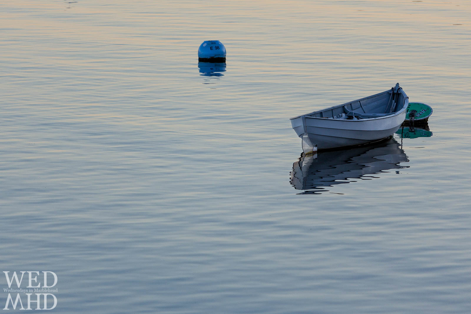 Skiff at Sunset