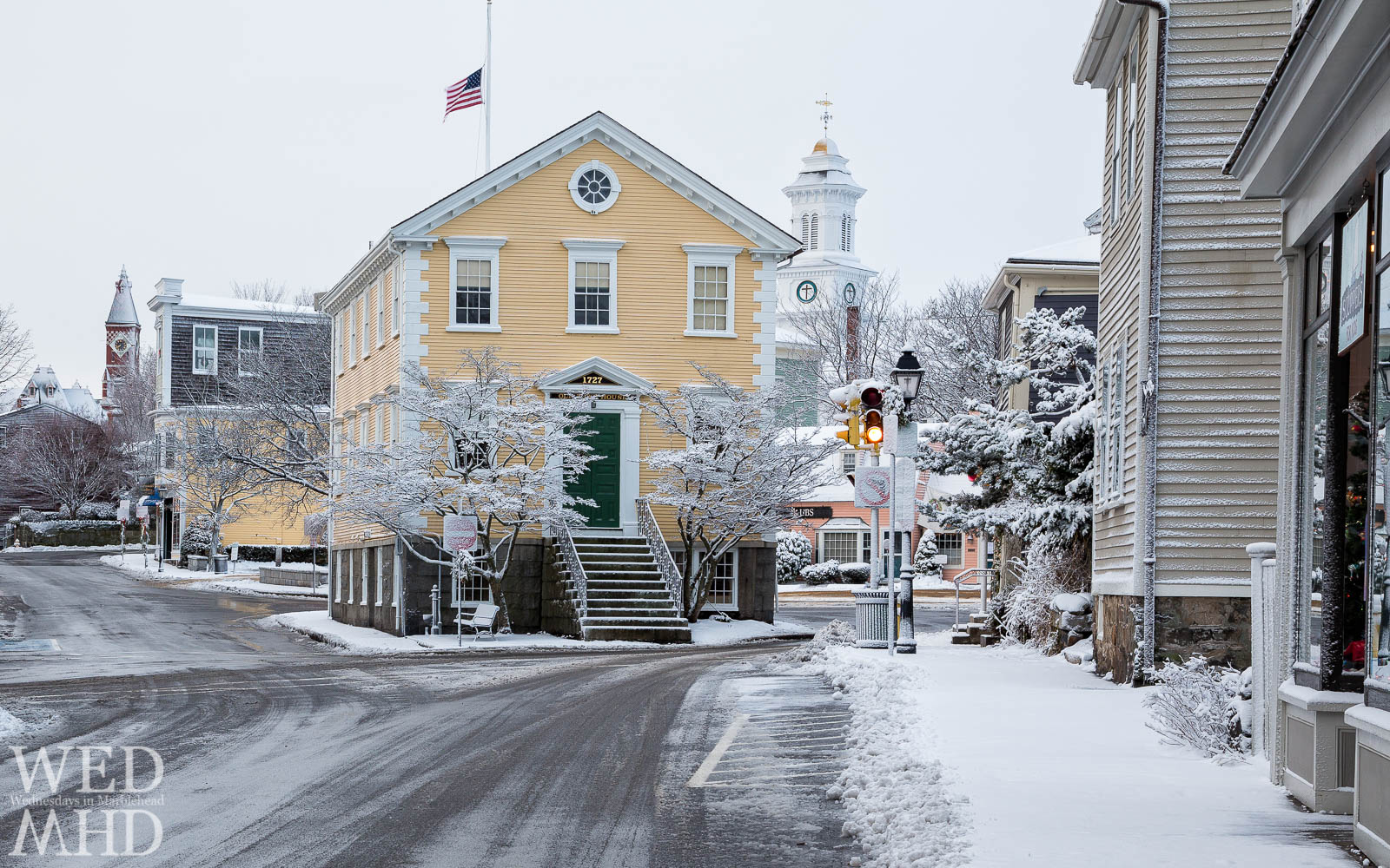 Snow in Marblehead – The Three Icons
