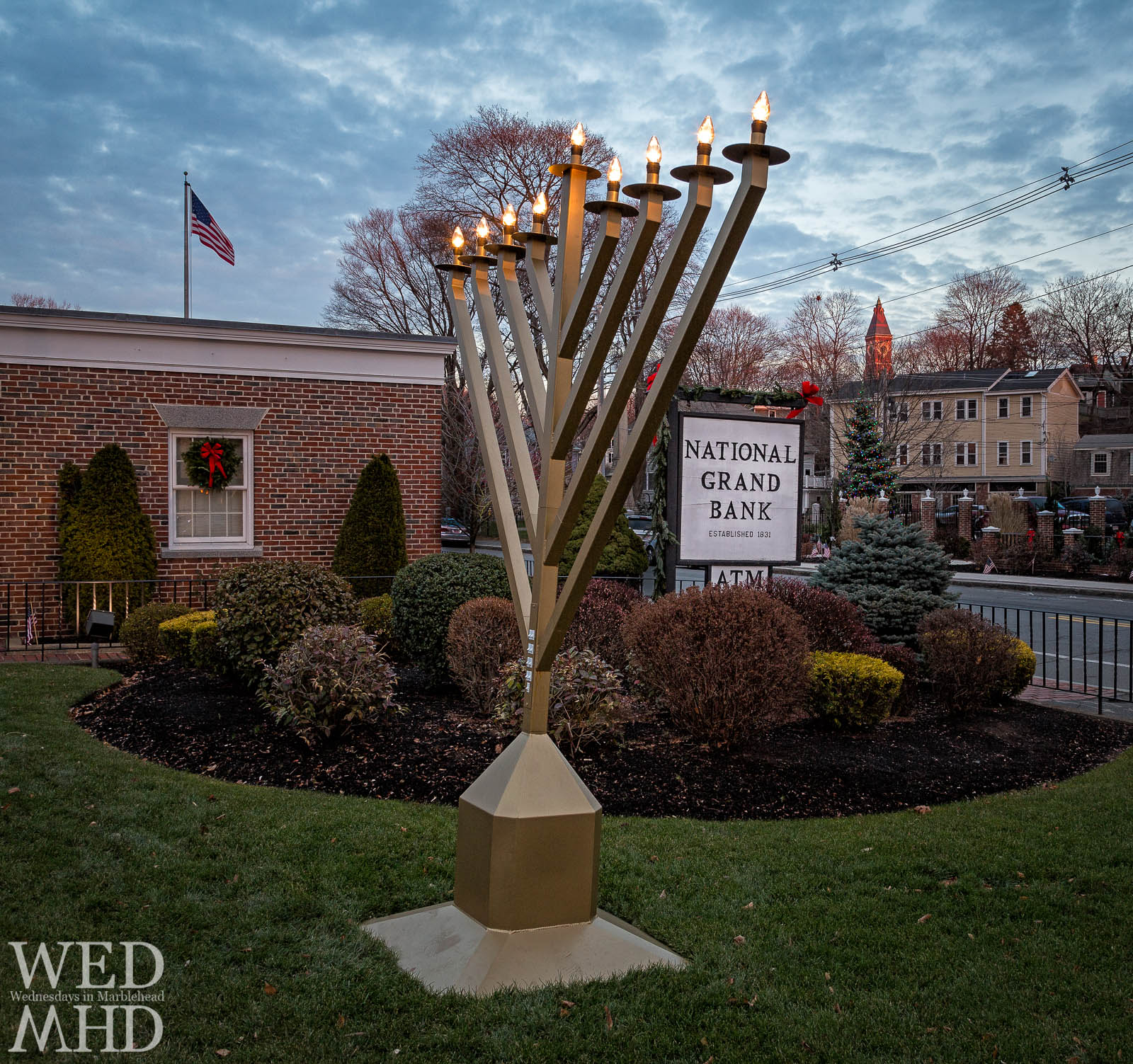 The Menorah at National Grand Bank