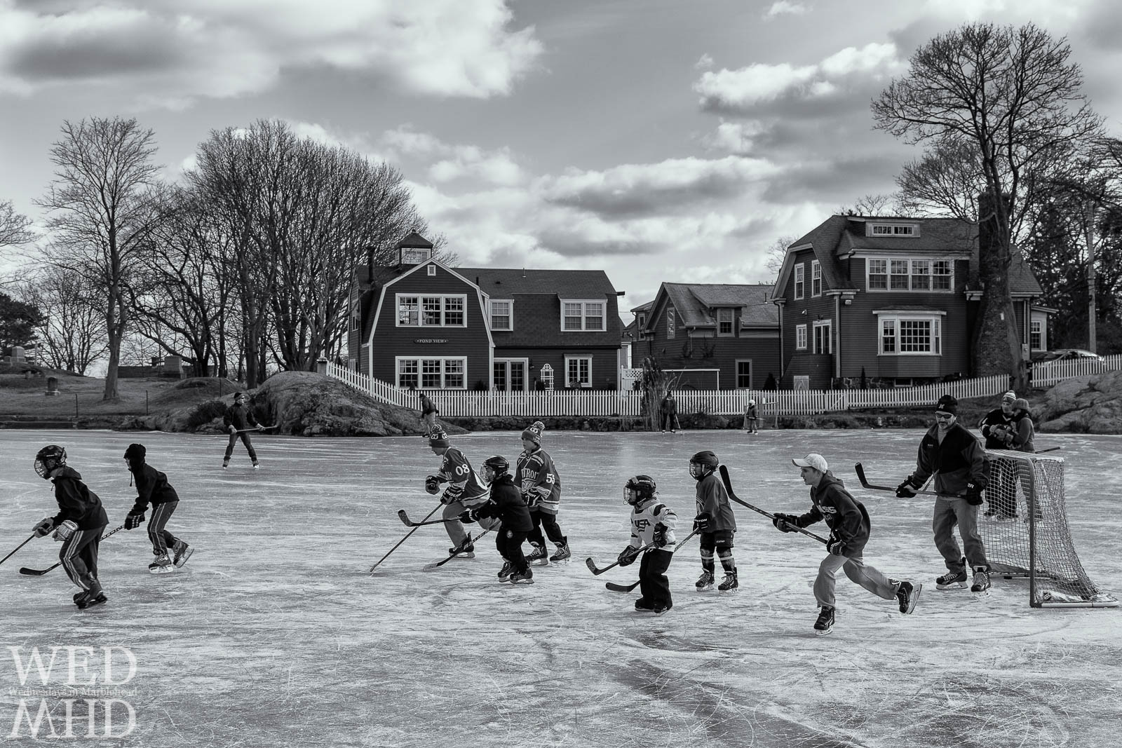 Pickup Hockey Game at Redd's Pond