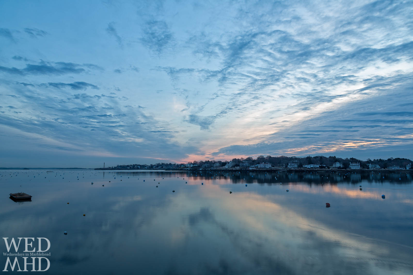 Calm Morning – Marblehead Harbor in the Blue Hour