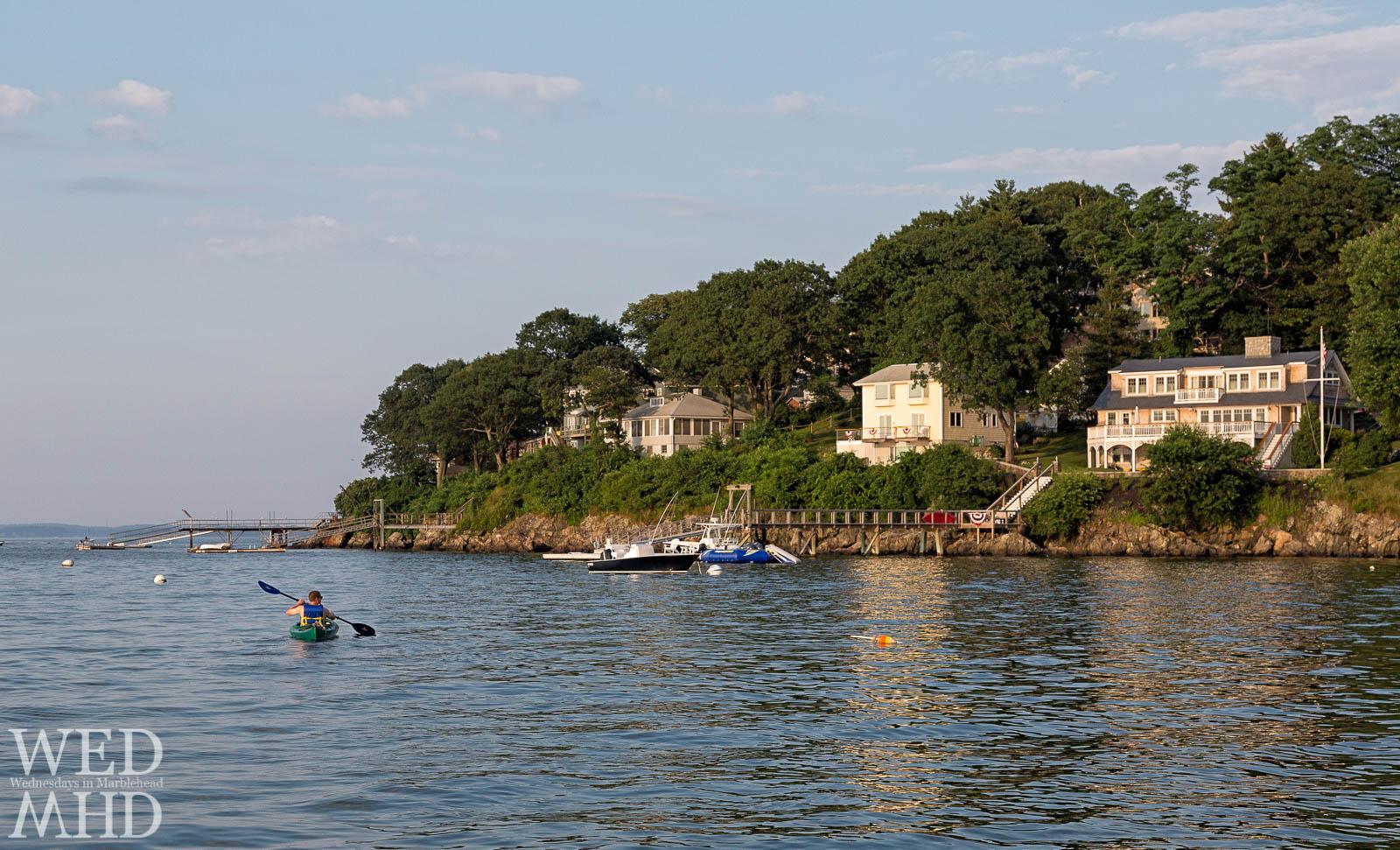 Kayaking past Naugus Head