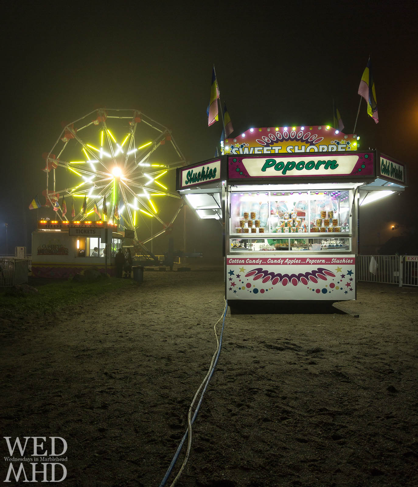 Foggy Night at the Marblehead Carnival