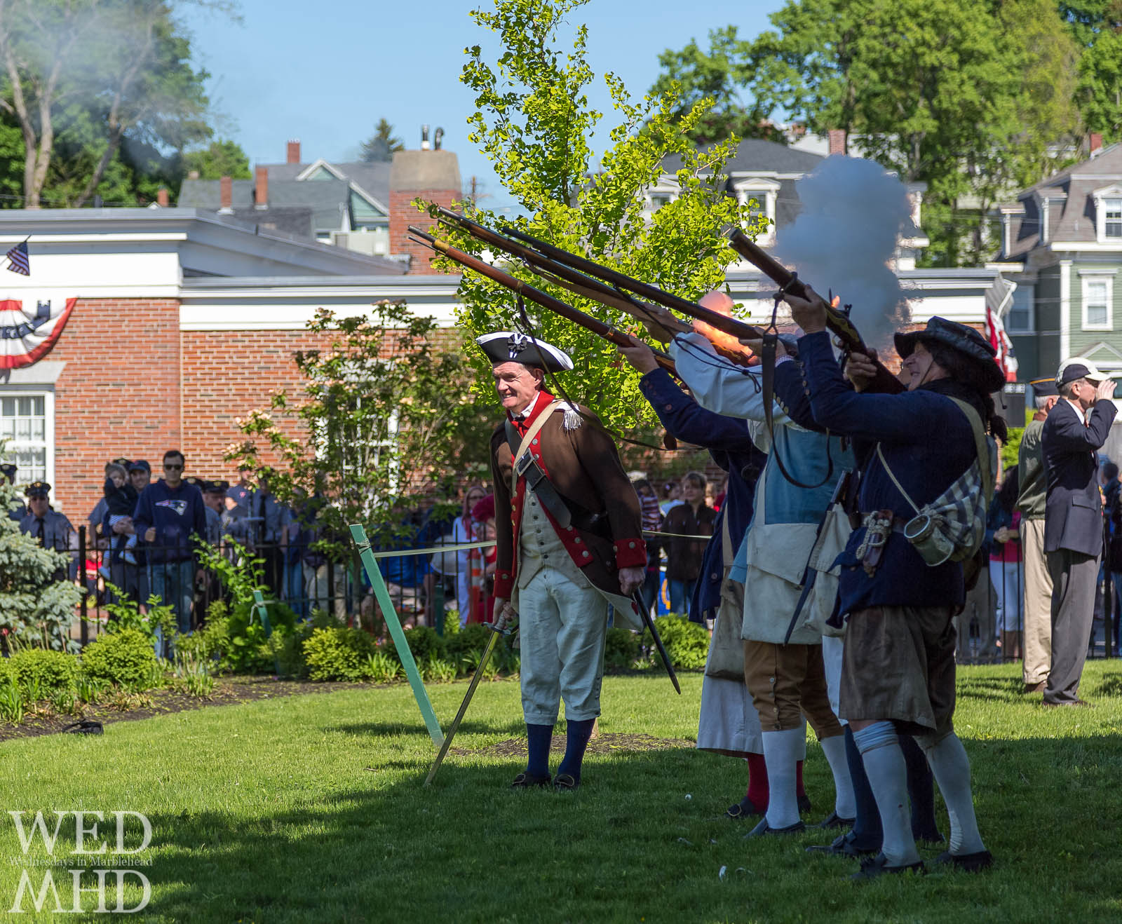Glover's Regiment Fires a Salute on Memorial Day