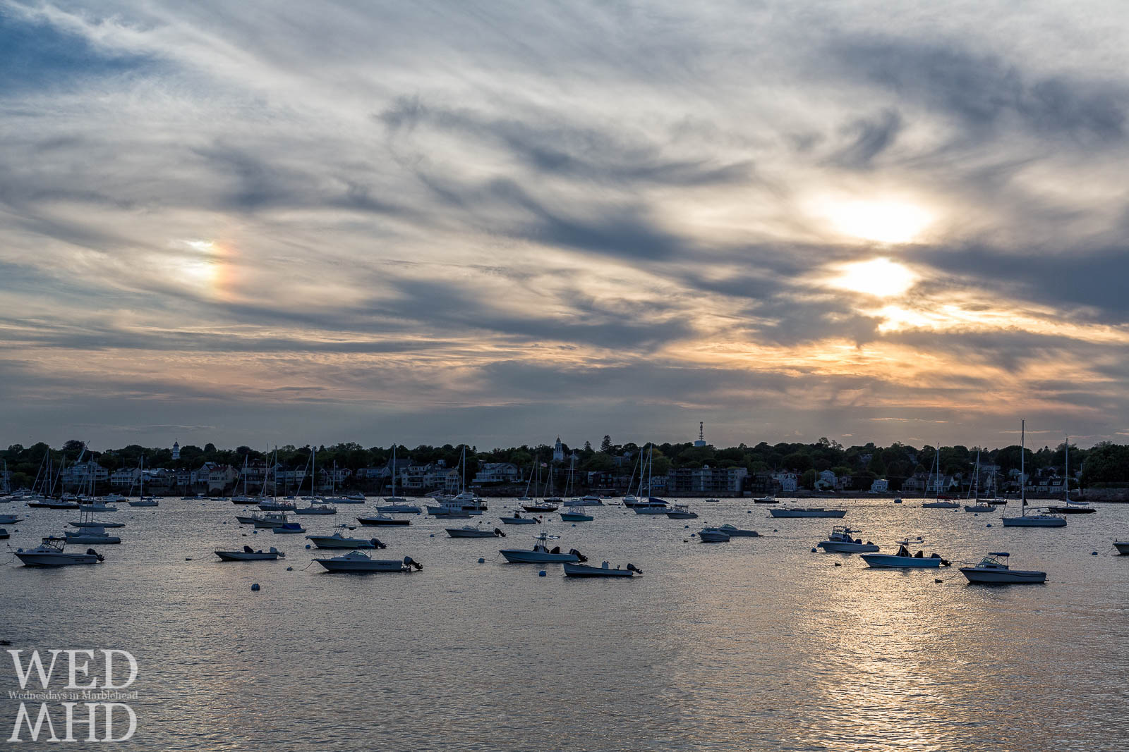 Sundog over Marblehead Harbor