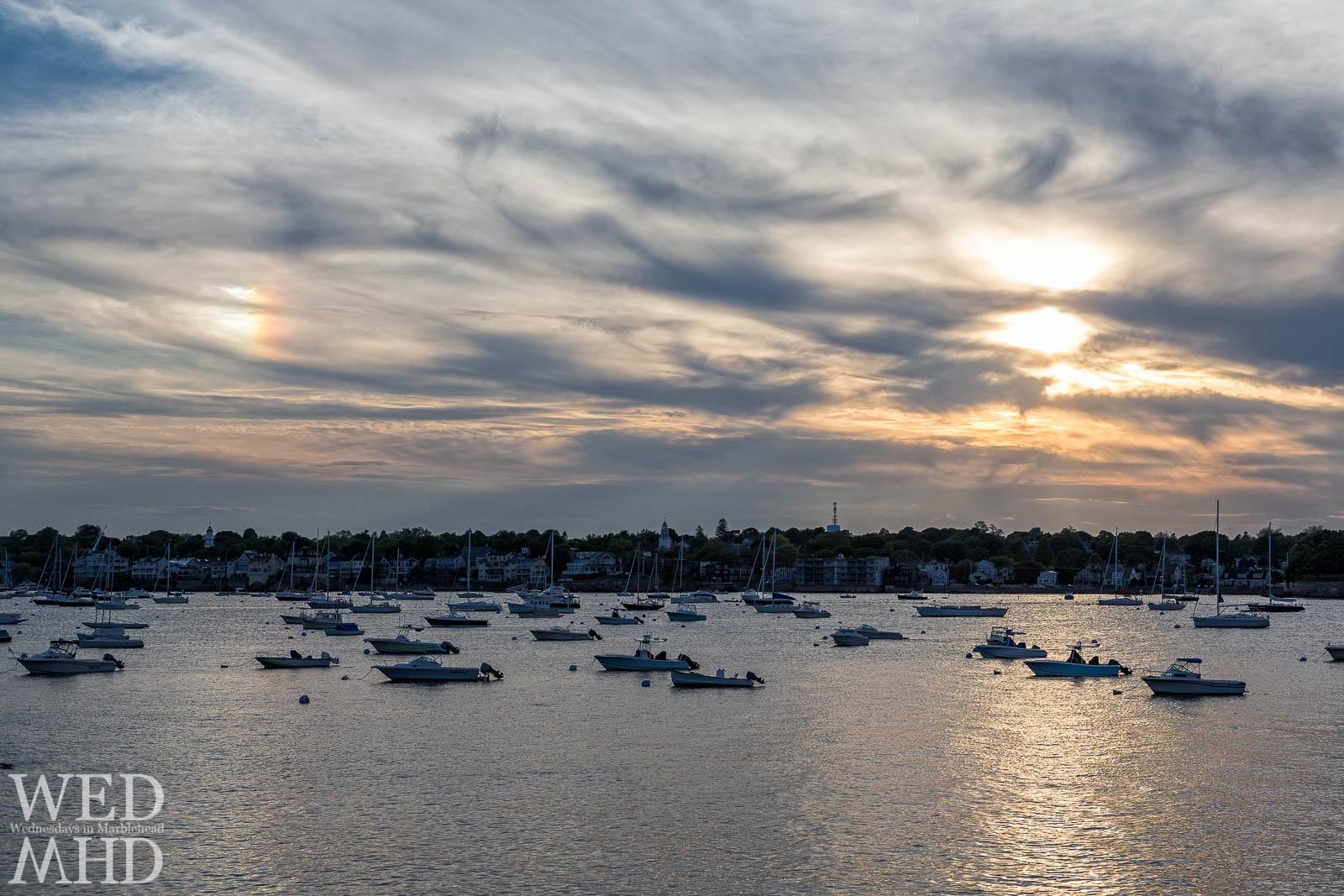 Sundog over Marblehead Harbor