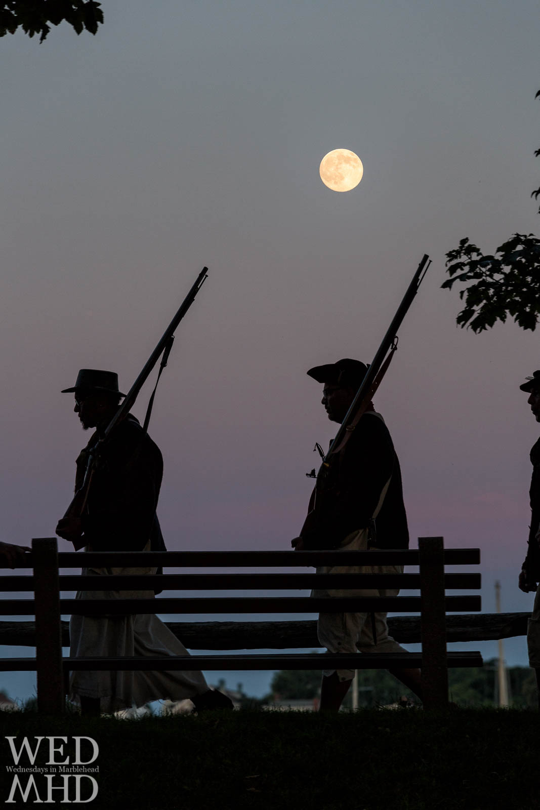 Glover's Regiment Marching Under the Full Moon