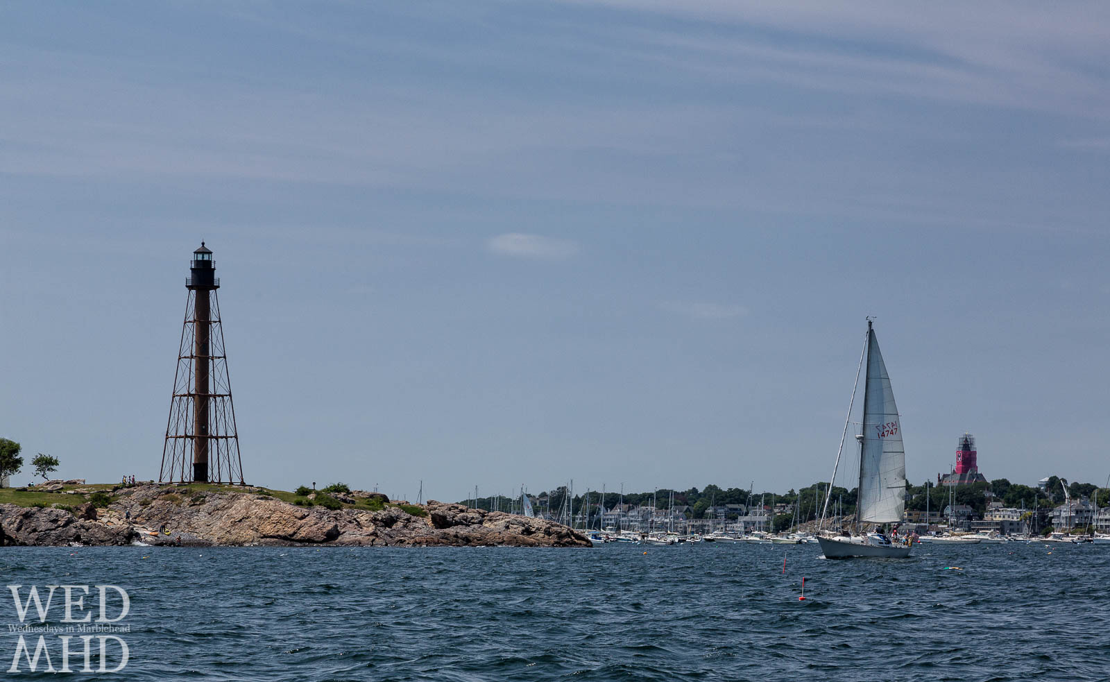 Sailing Out of Marblehead Harbor