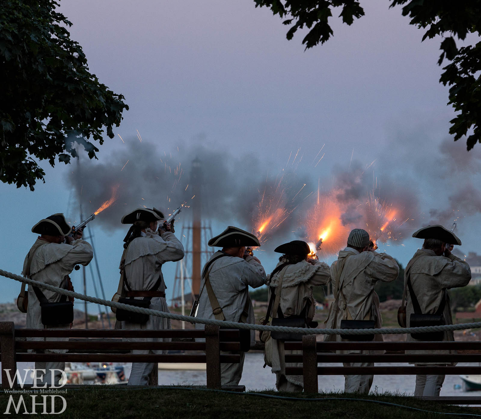 Sunset Salute at Fort Sewall by Glover's Regiment