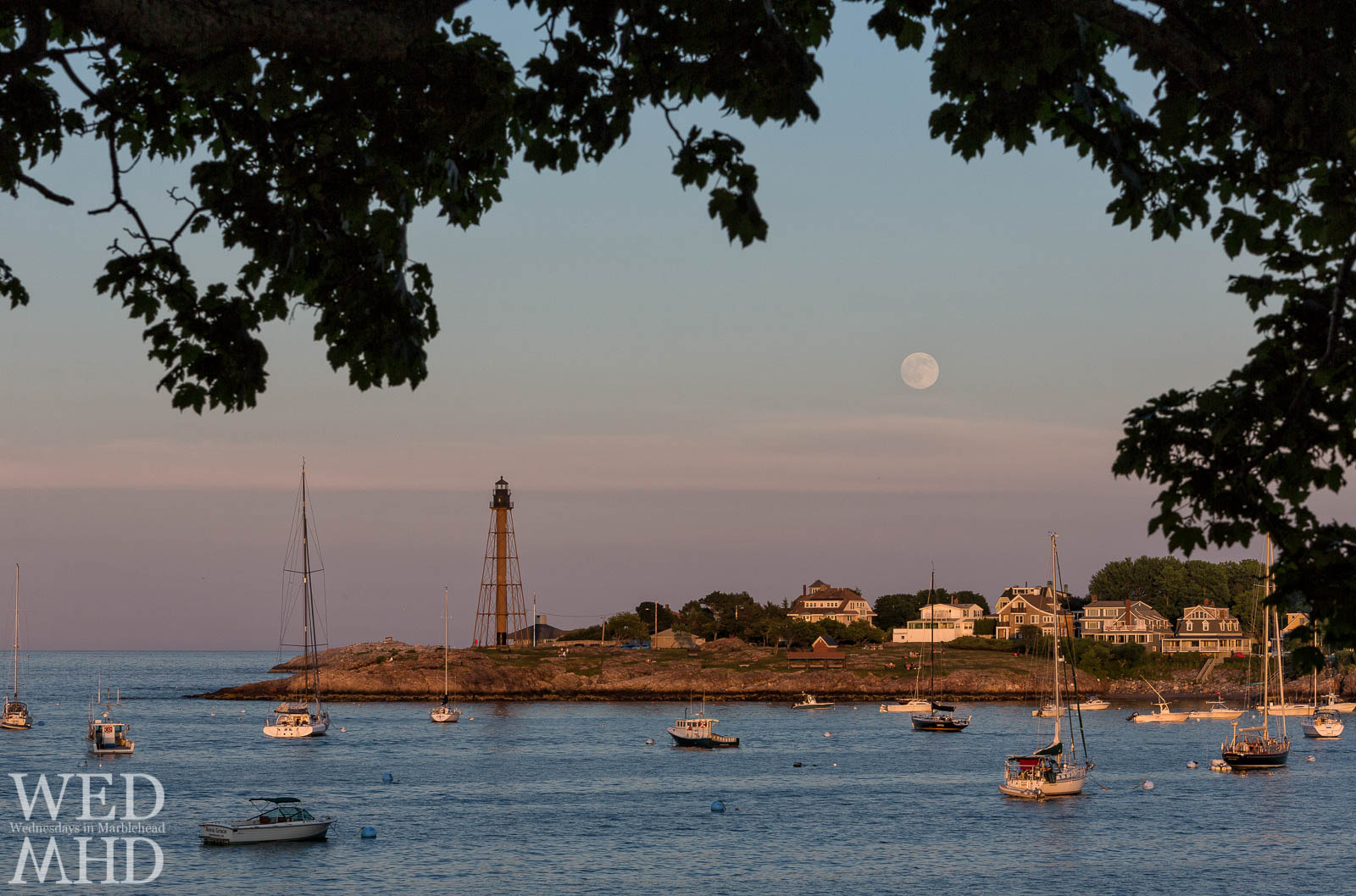 Watching the Moon Rise from Fort Sewall