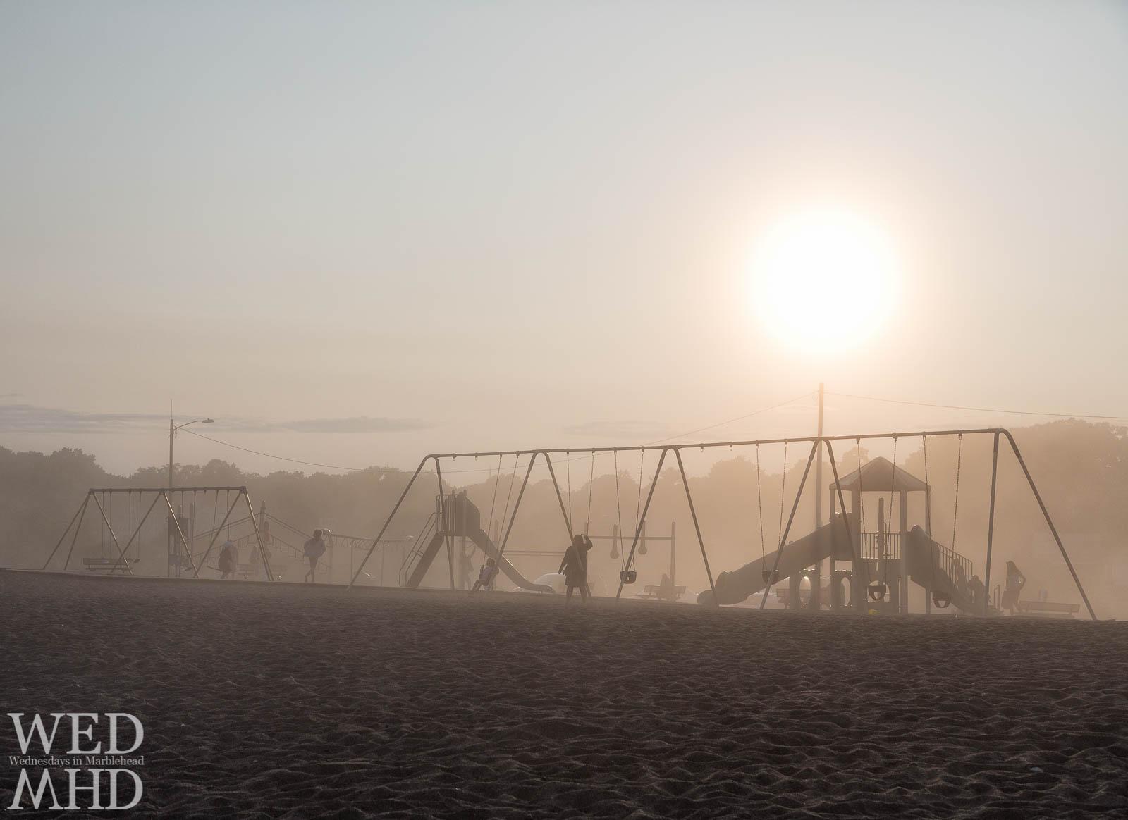 Devereux Beach Playground in the Fog
