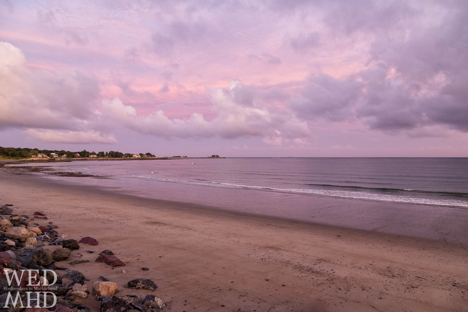 Pink Sky over Devereux Beach