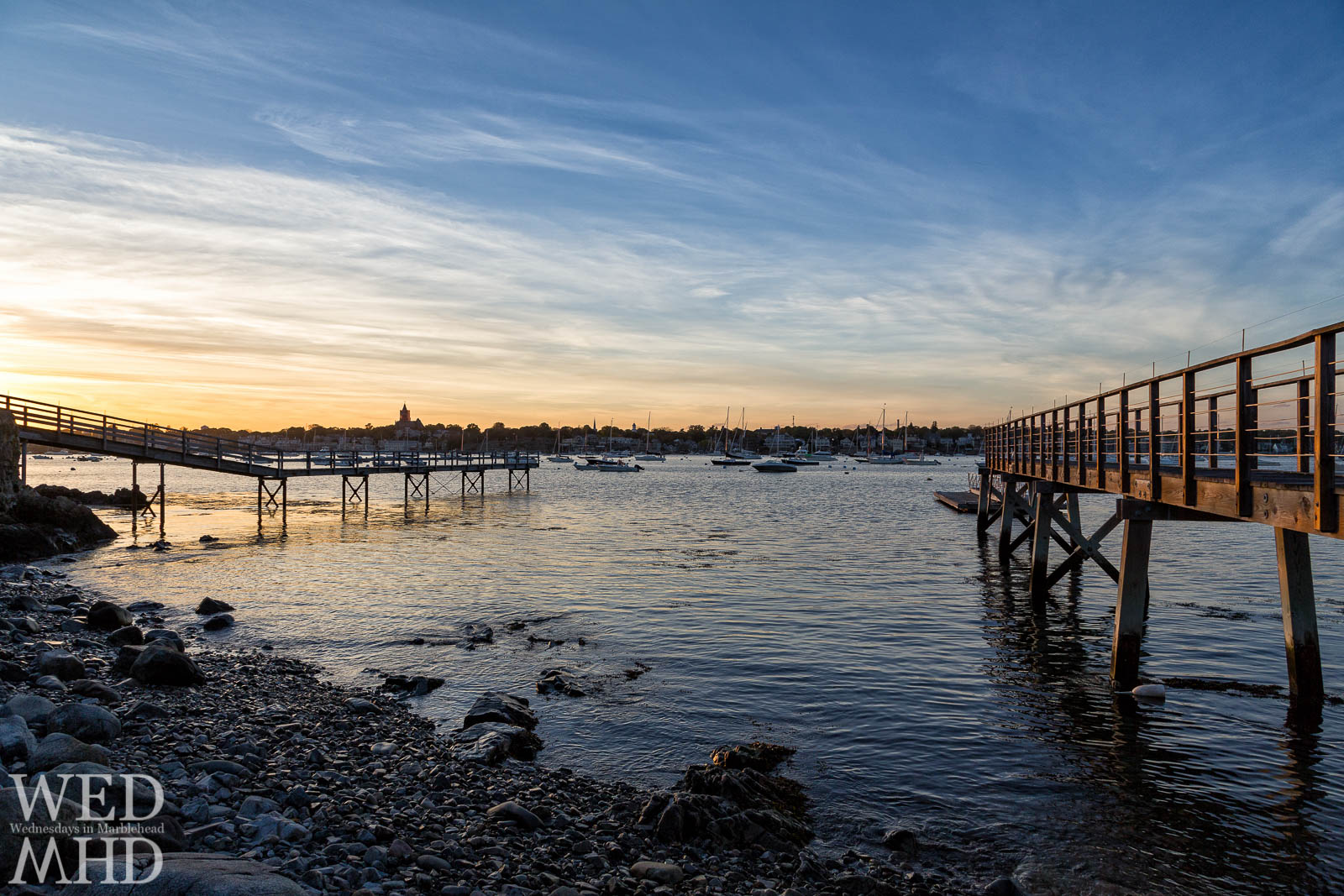 docks on Marblehead Neck