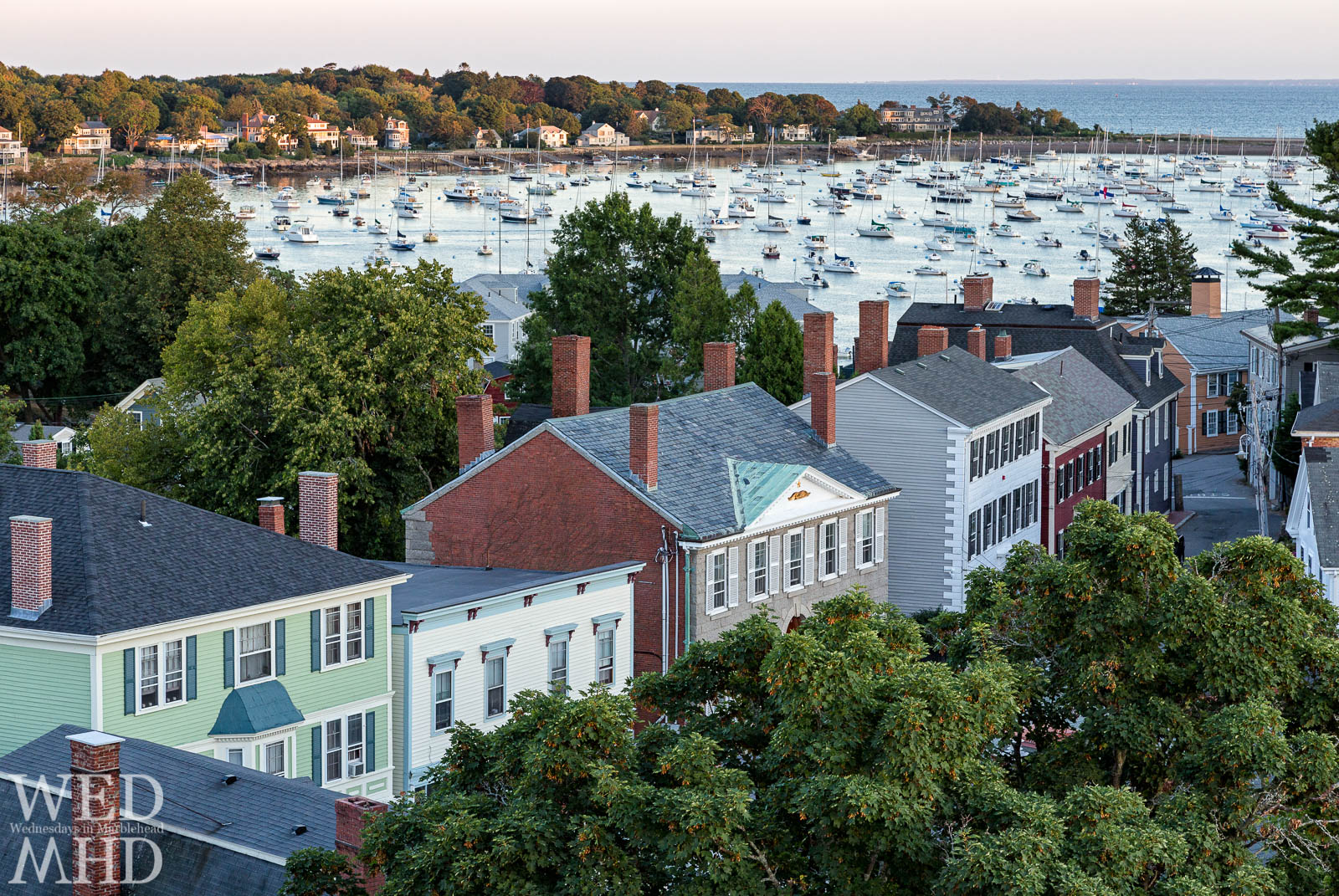 View of Hooper Street and Harbor from atop St Michaels Steeple