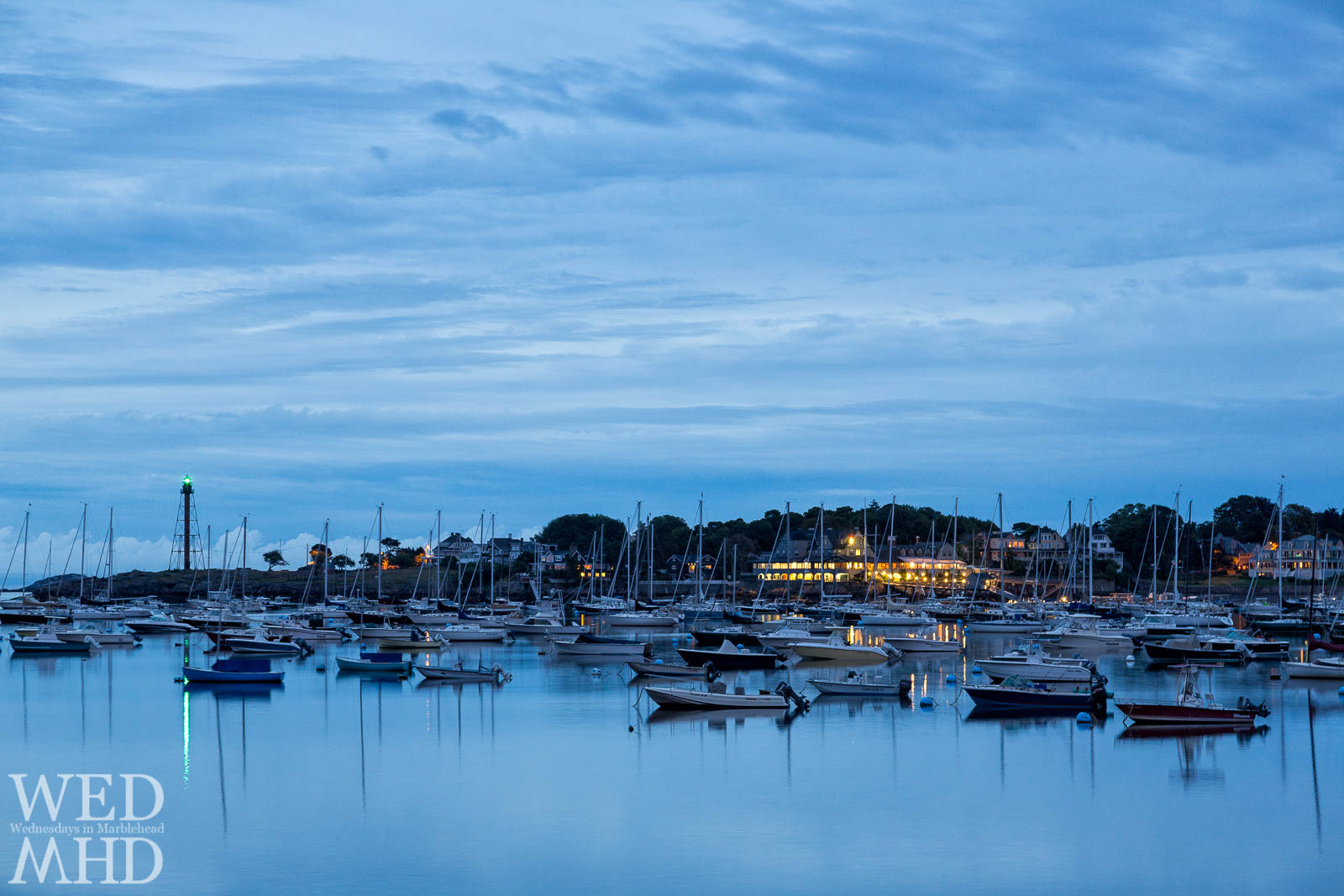 Marblehead Harbor in the Blue Hour