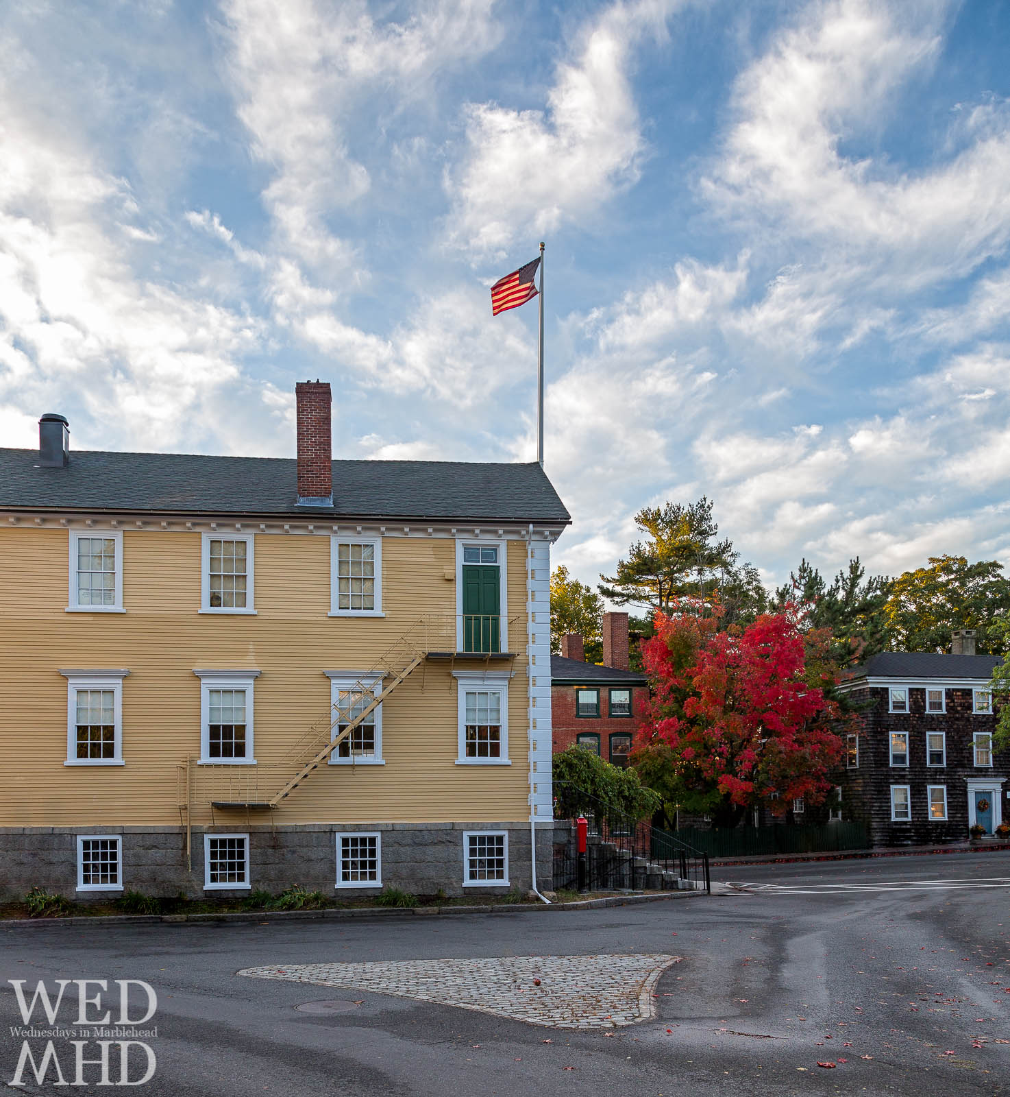 Old Town House and the Maple Tree