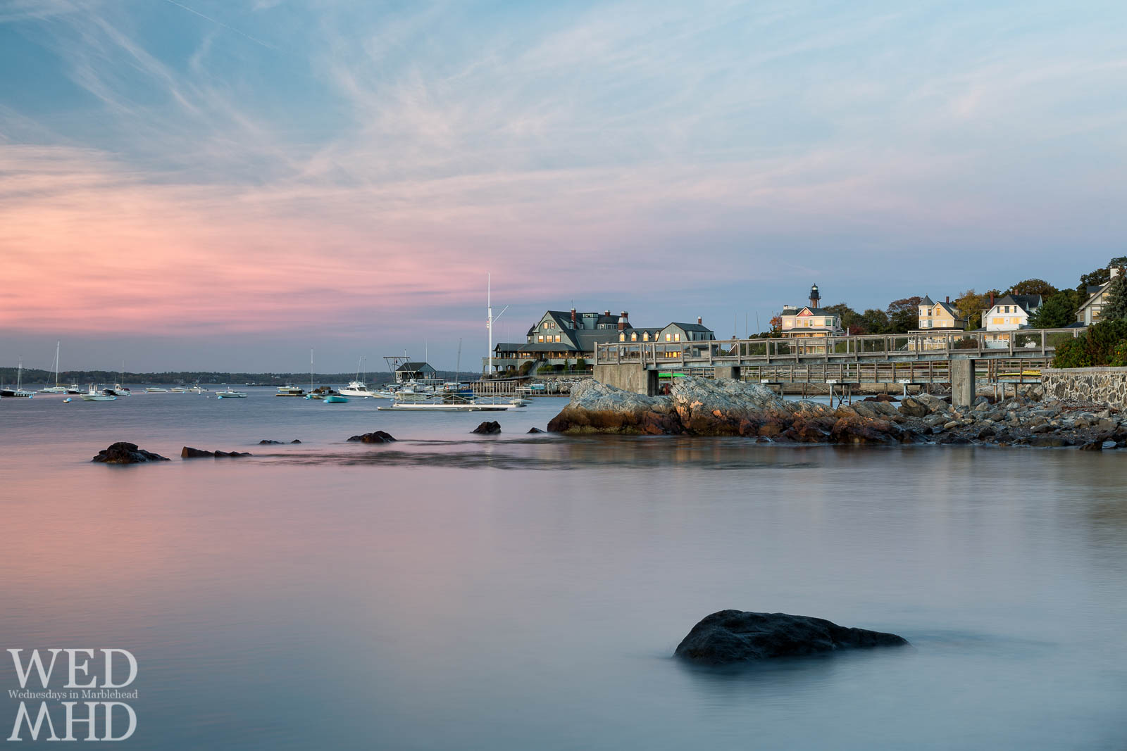 Still Waters at Sunset in Marblehead