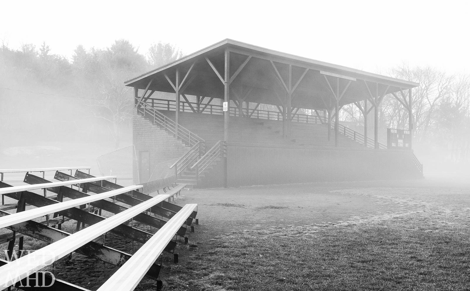 fog descends on seaside park and the bleachers