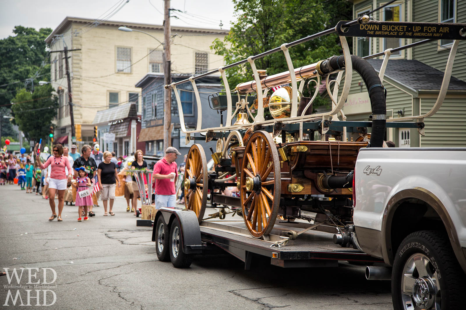 Handtub Fire Engine in the Marbleheads Annual Horribles Parade