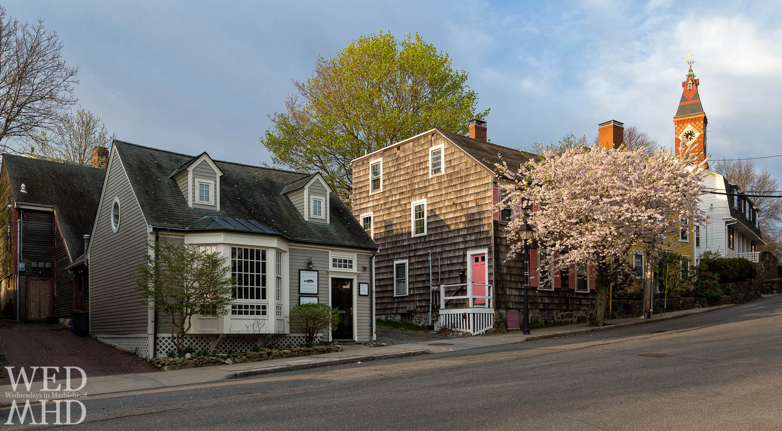 The Marblehead Museum and Historical Society seen on Washington Street in early morning light