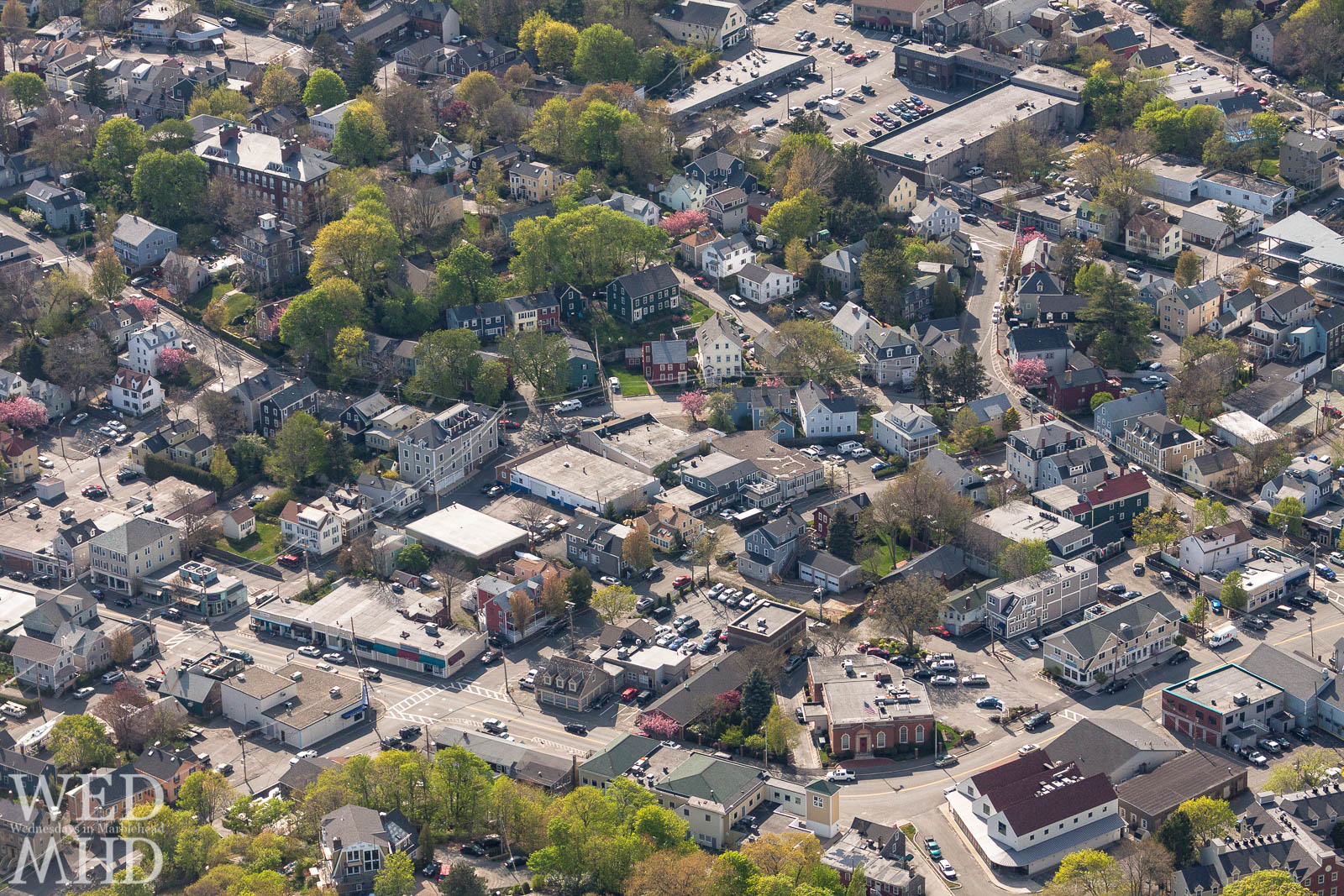 A birds eye view of Atlantic Avenue and the shops that along the avenue
