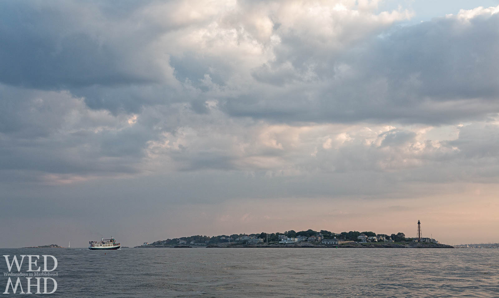 The Hannah Glover brings campers back to Marblehead after a day spent on Children's Island