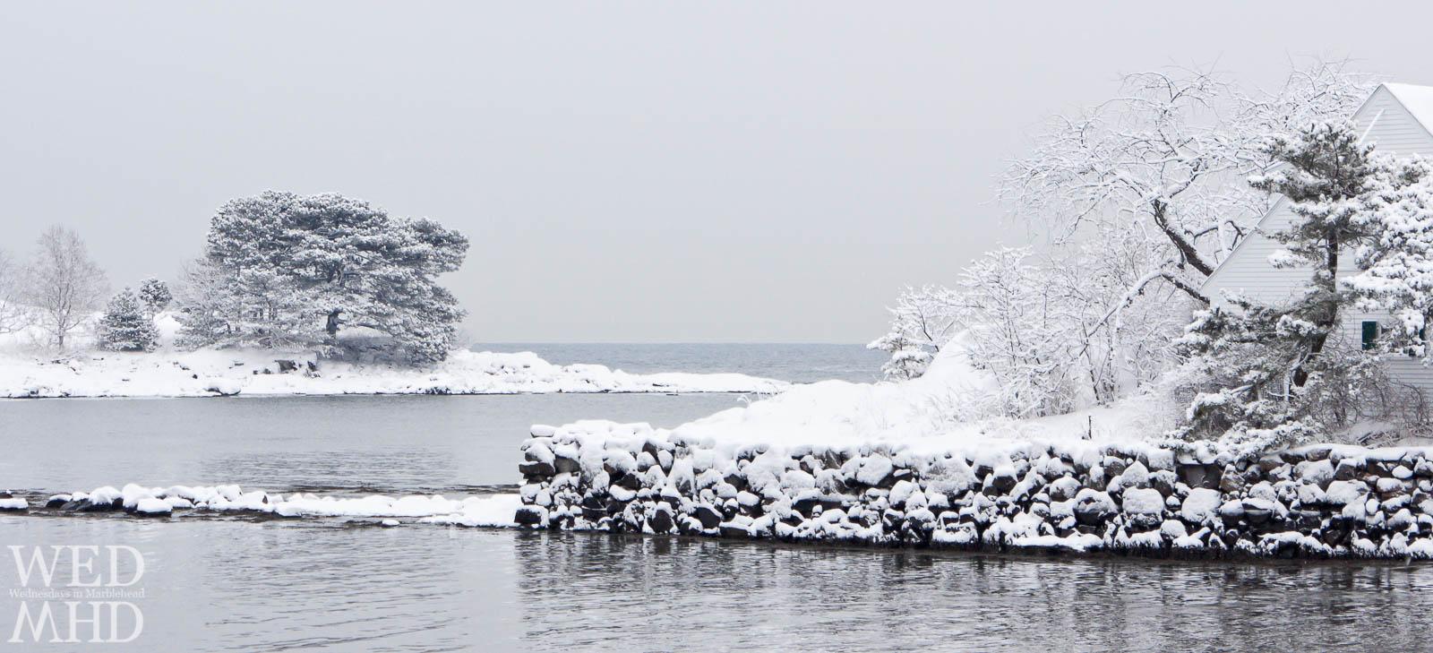 Little Harbor captured after an impressive snow storm